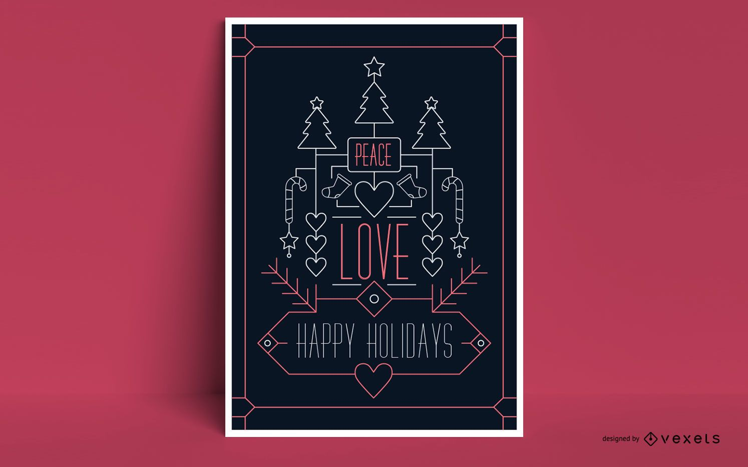 Diseño de carteles de Navidad felices fiestas