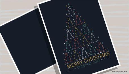 Design de cartaz da árvore de feliz Natal