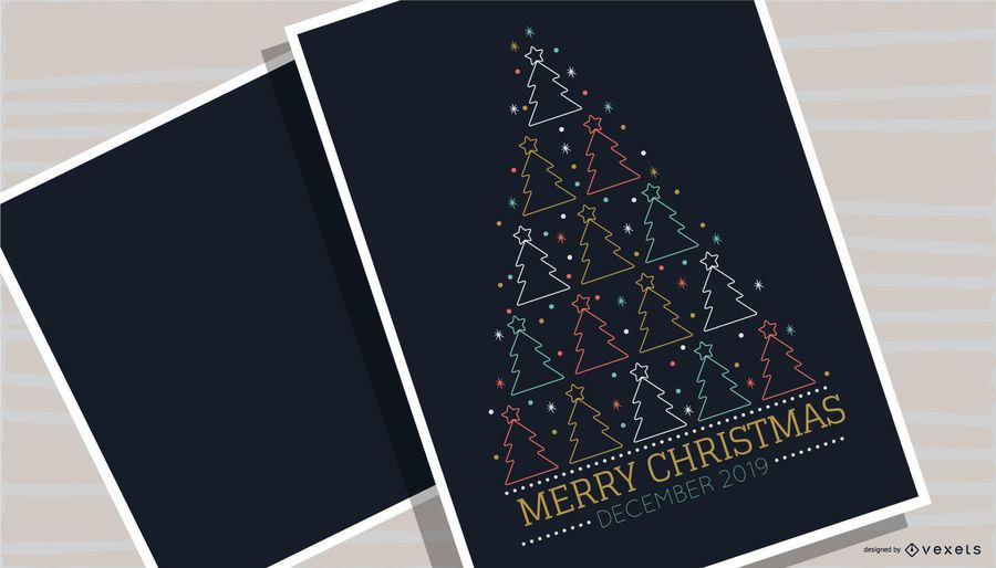 Merry Christmas Tree Poster Design