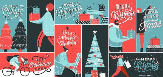 Design de composição de banner de Natal