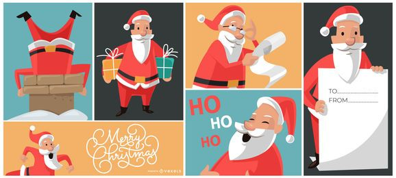 Christmas Santa Designs Composition