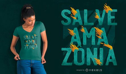 Diseño de camiseta salve amazonia