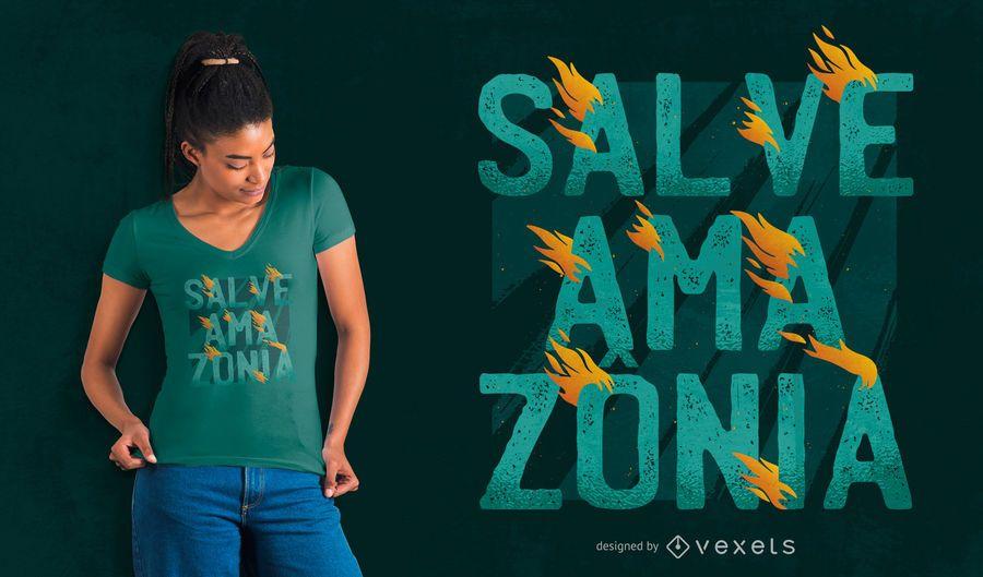 Design de t-shirt da baleia amazônia