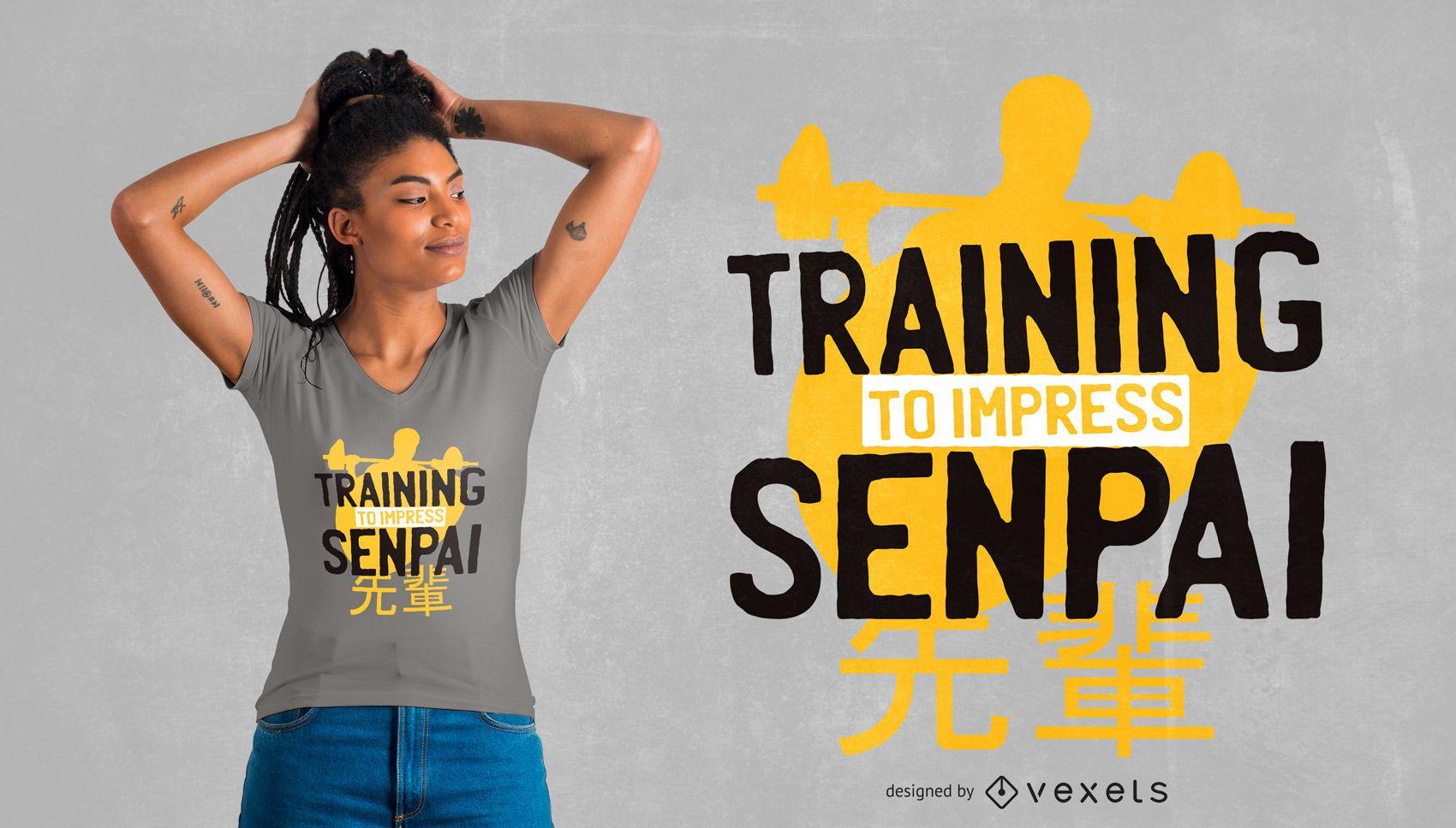 Treinamento para design de camisetas senpai