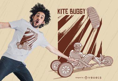 Design de camiseta com carrinho de pipa