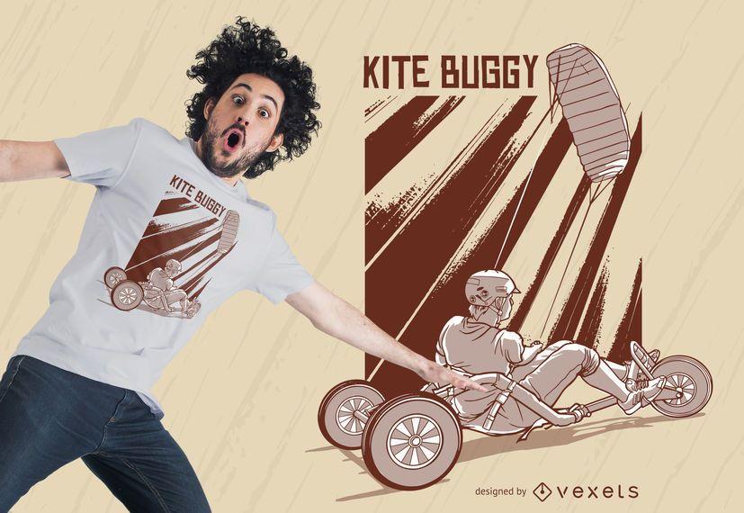 Diseño de camiseta de kite buggy