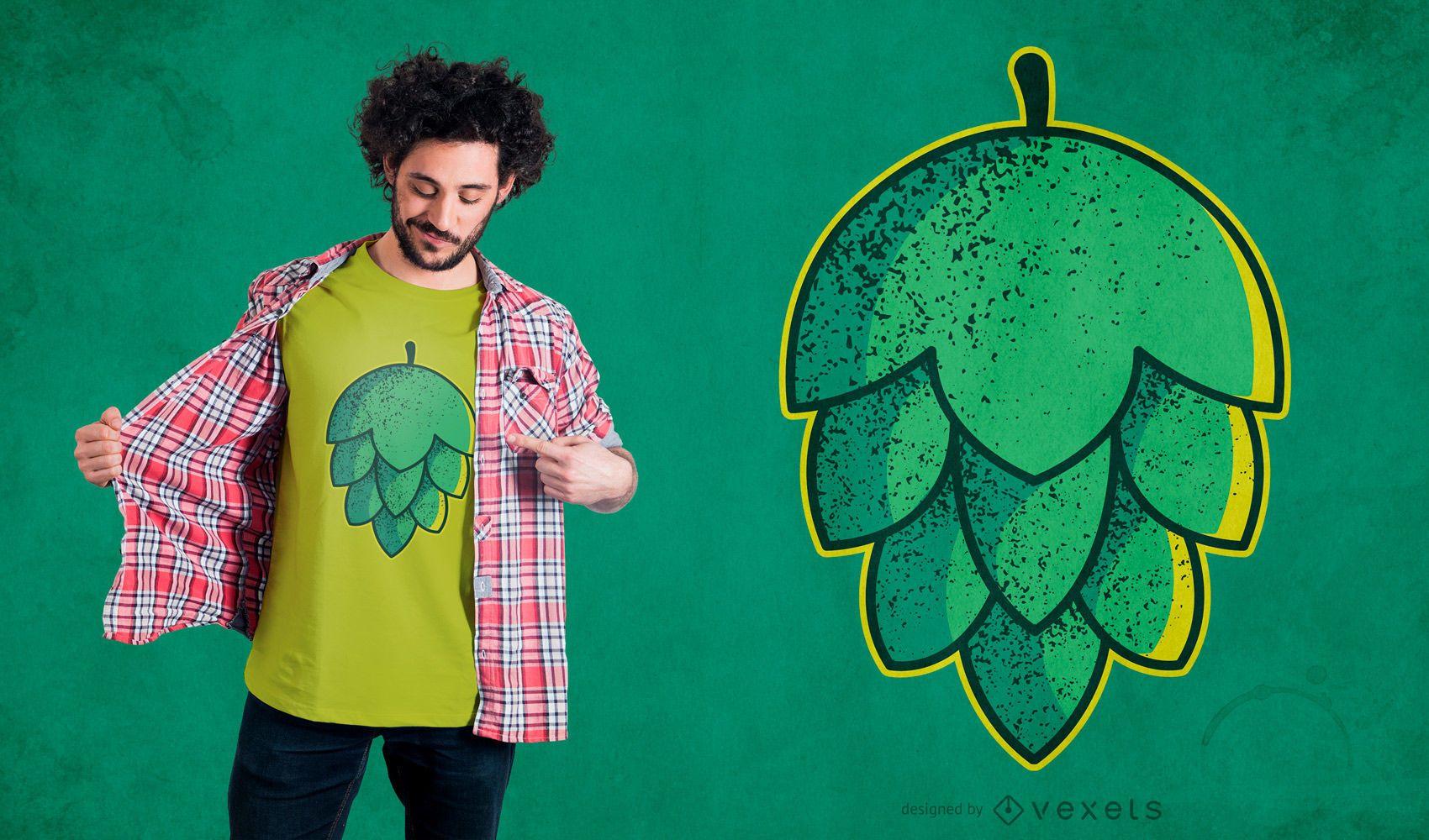Hop Flower T-shirt Design