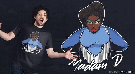 Design de t-shirt da senhora