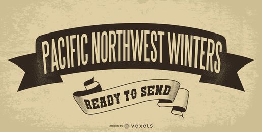 Pacific northwest winters poster