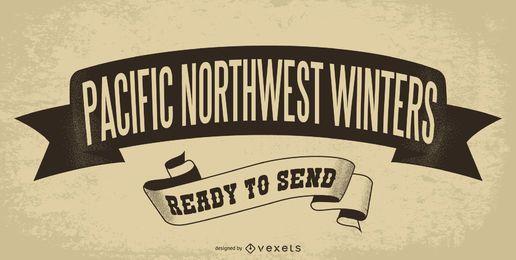 Plakat des pazifischen Nordwestwinters