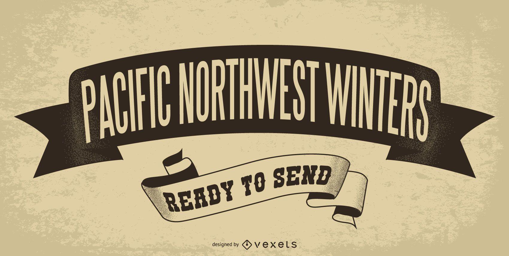Póster inviernos del pacífico noroeste