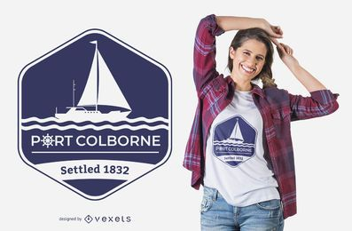 Projeto do t-shirt de Colborne do porto
