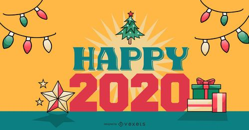 Happy 2020 Banner Design