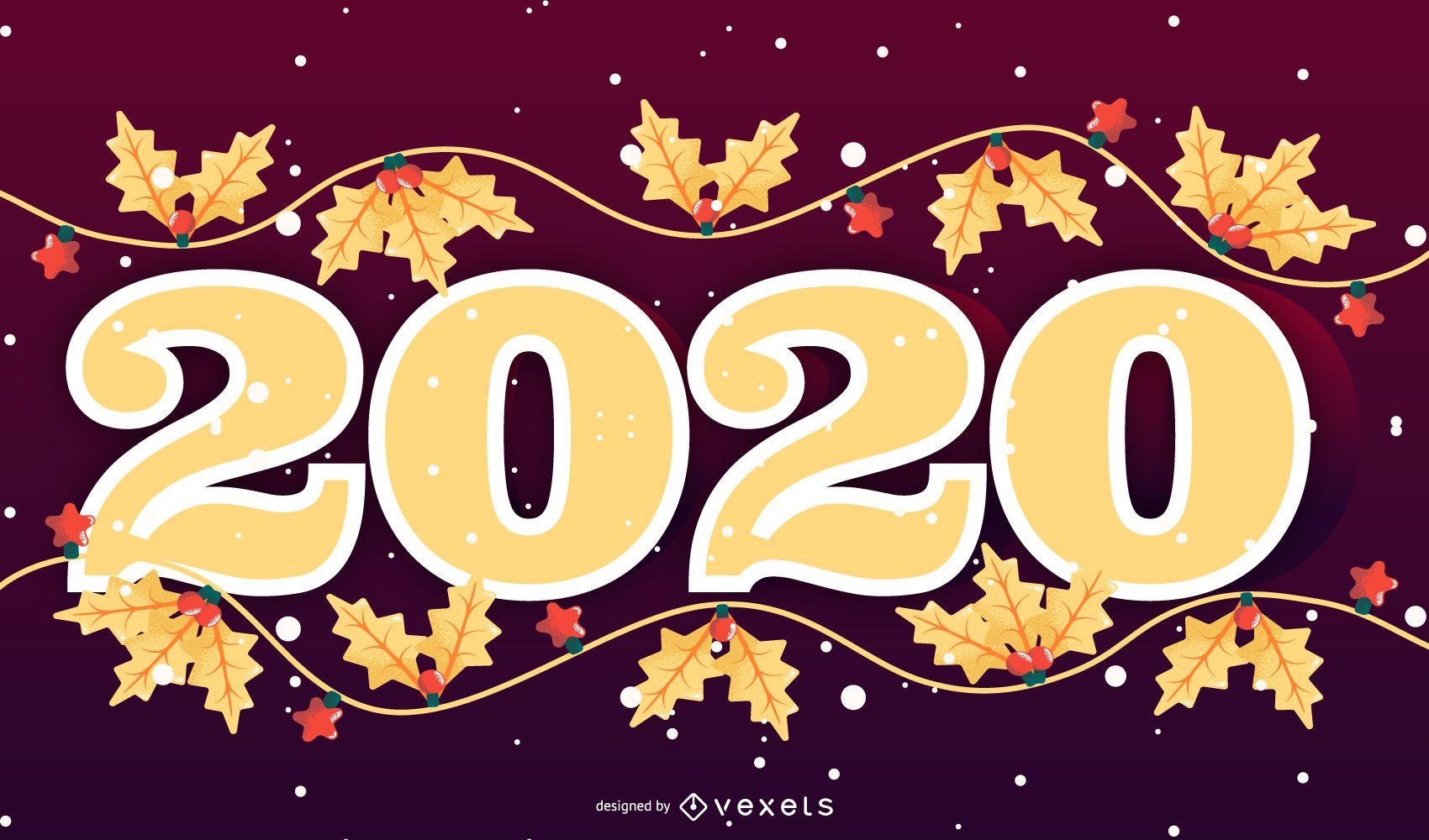 Diseño de banner de temporada feliz 2020