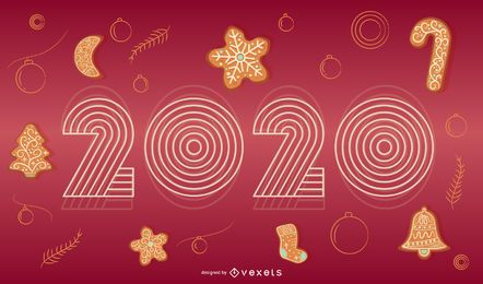 Happy 2020 Holiday Banner Design