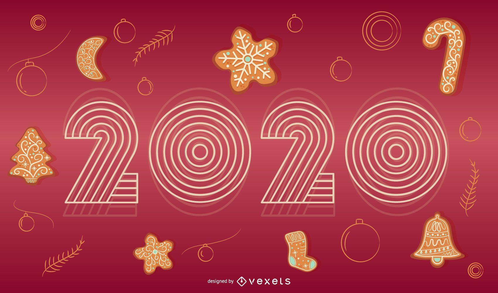 Happy 2020 Holiday Banner Design