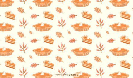 Diseño de patrón de pastel de calabaza