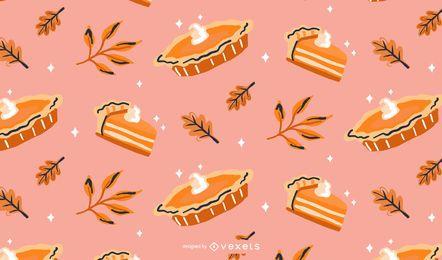 Desenho de padrão de torta de abóbora