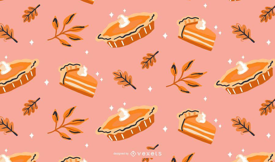 Pumpkin pie pattern design