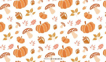 Thanksgiving-Muster Hintergrunddesign