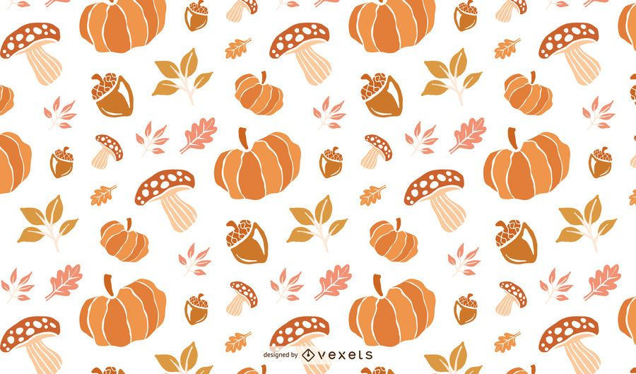 Thanksgiving Pattern Background Design