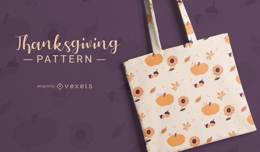 Cute Thanksgiving Doodle Pattern Design