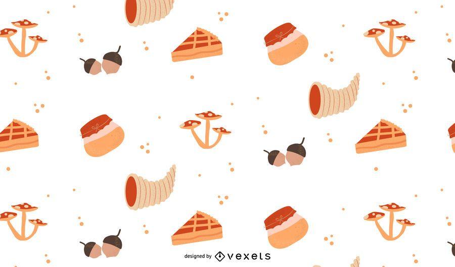 Thanksgiving Elements Flat Pattern Design