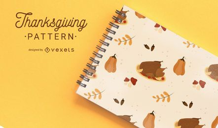 Thanksgiving simple pattern design