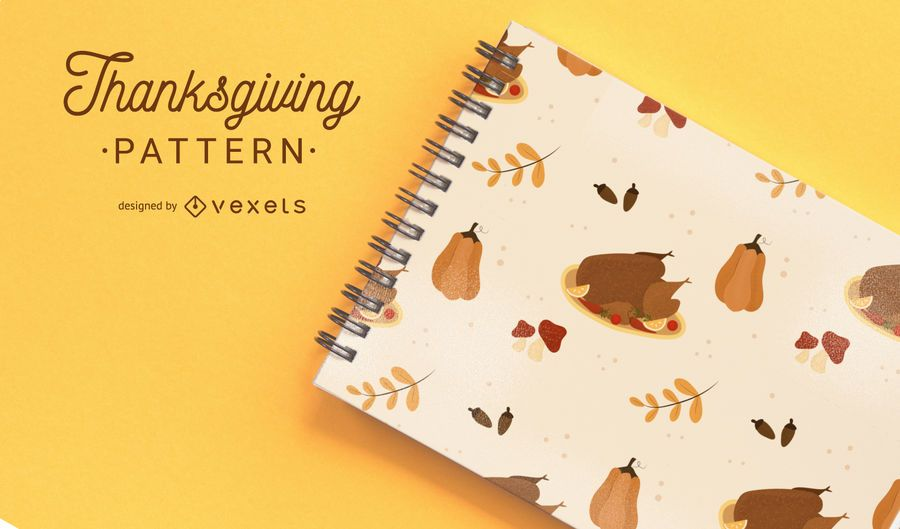 Thanksgiving simple pattern design