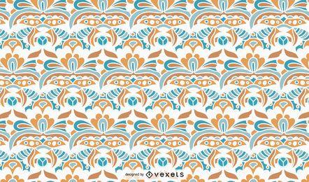 Diseño de patrón ornamental vintage