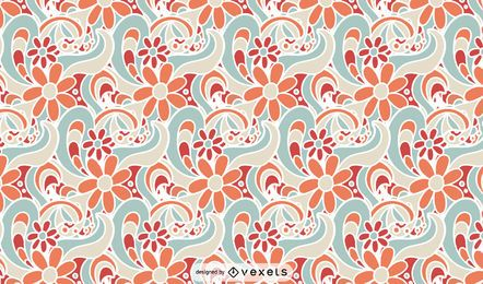 Retro Muster mit Blumenmuster