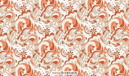 Design ornamental de padrão retro