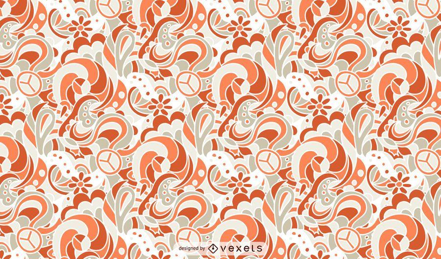 Diseño ornamental de patrón retro