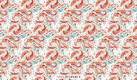 Retro Blumenverzierungs-Muster-Entwurf