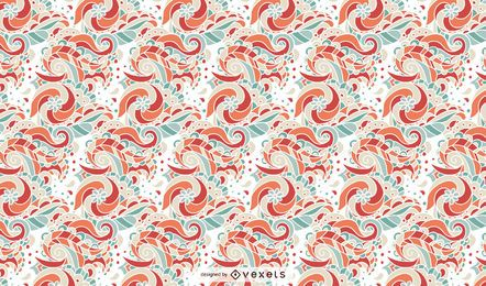 Retro Floral Ornament Pattern Design
