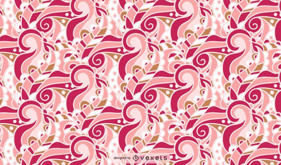 Diseño de patrón de remolino de estilo retro