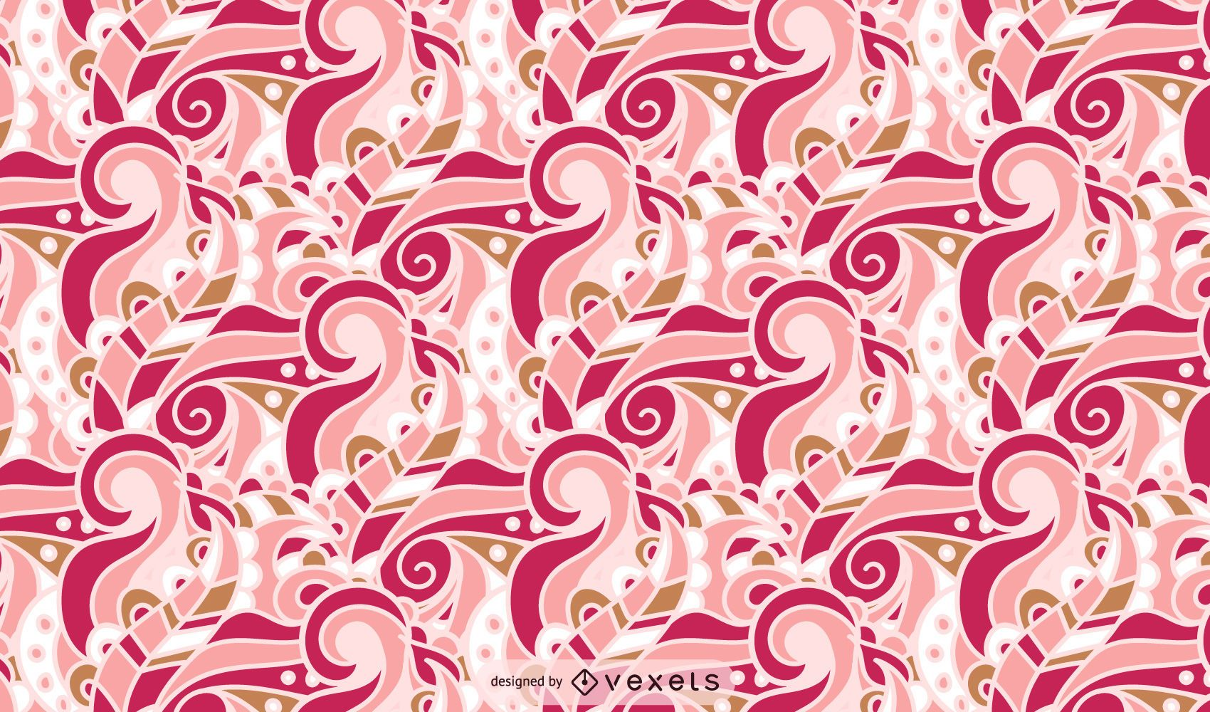 Retro Style Swirl Pattern Design
