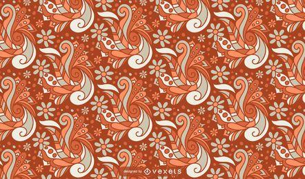 Teste padrão abstrato floral retrô