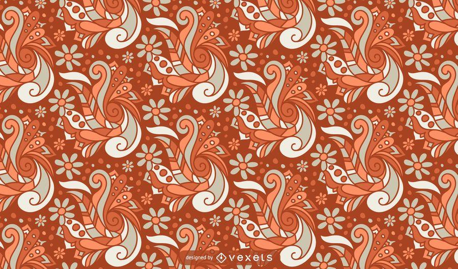 Retro floral abstraktes Muster