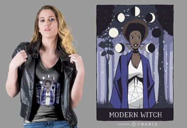 Modern Witch T-shirt Design