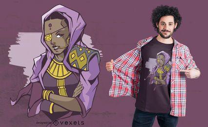 Indischer Piraten-T-Shirt Entwurf