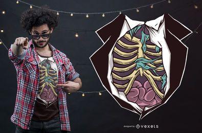 Design engraçado do t-shirt do corpo do zombi do Dia das Bruxas