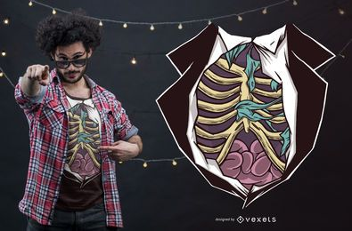 Diseño divertido de la camiseta del cuerpo de Halloween Zombie