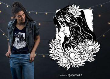 Diseño de camiseta de mujer Wiccan