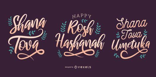 Rosch Haschana-Schriftzug-Set