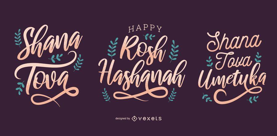 Conjunto de letras de Rosh Hashaná