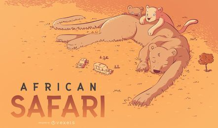 Afrikanische Safariillustration