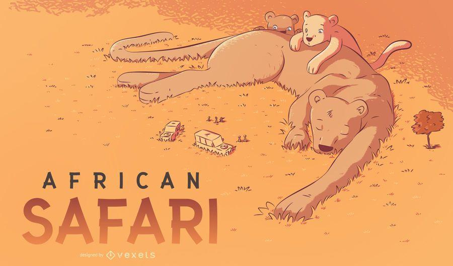 African safari illustration