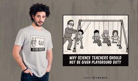 Diseño de camiseta divertida de profesor de ciencias