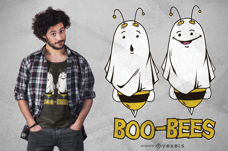 Diseño de camiseta divertida de fantasmas de abeja